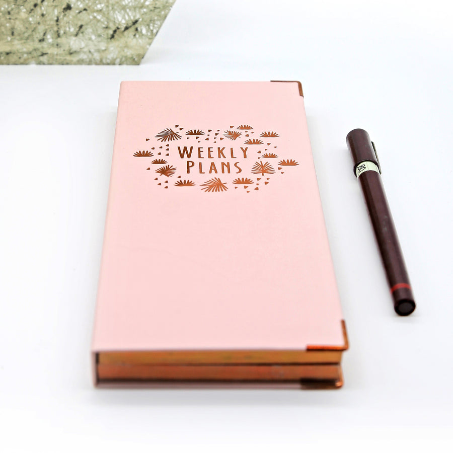 Weekly Planner (Pink) - 7mm - Fine Paper Stationery