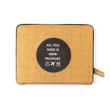 Laptop Sleeve: All you need (Kraft) - 7mm - Fine Paper Stationery