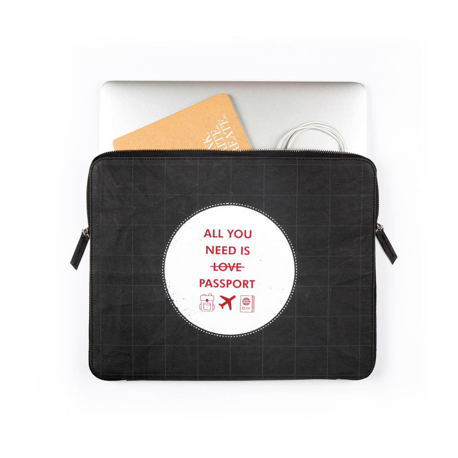 Laptop Sleeve: All you need (Black) - 7mm - Fine Paper Stationery