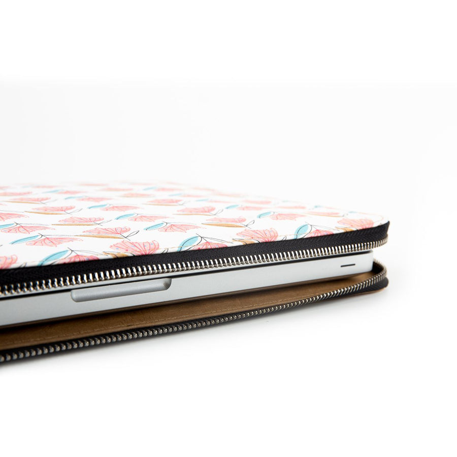 Laptop Sleeve: Fiori (White) - 7mm - Fine Paper Stationery