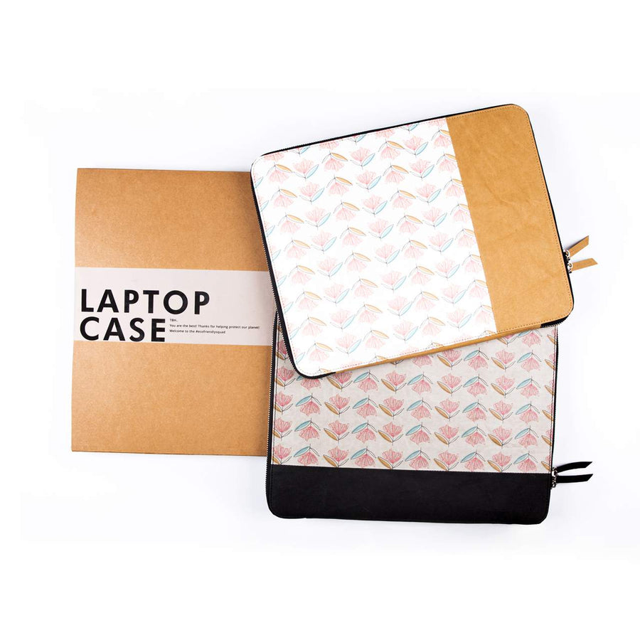 Laptop Sleeve : Fiori (Grey) - 7mm - Fine Paper Stationery