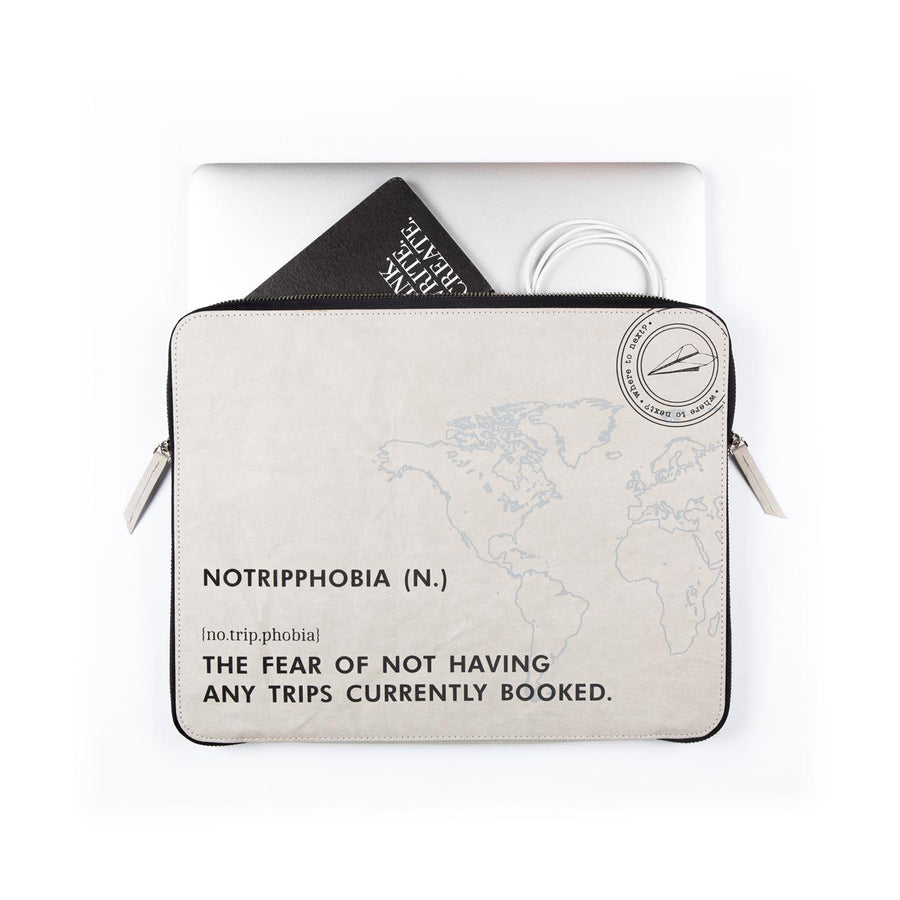 Laptop Sleeve: No Trip Phobia (Grey) - 7mm - Fine Paper Stationery