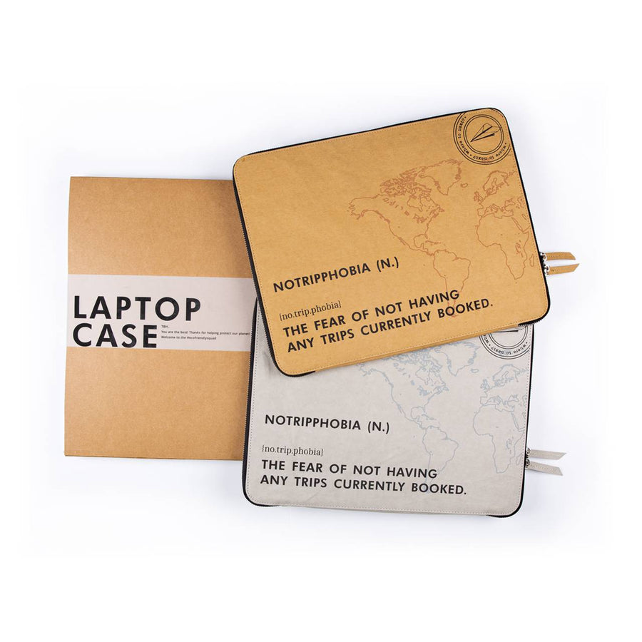 Laptop Sleeve: No Trip Phobia (Kraft) - 7mm - Fine Paper Stationery