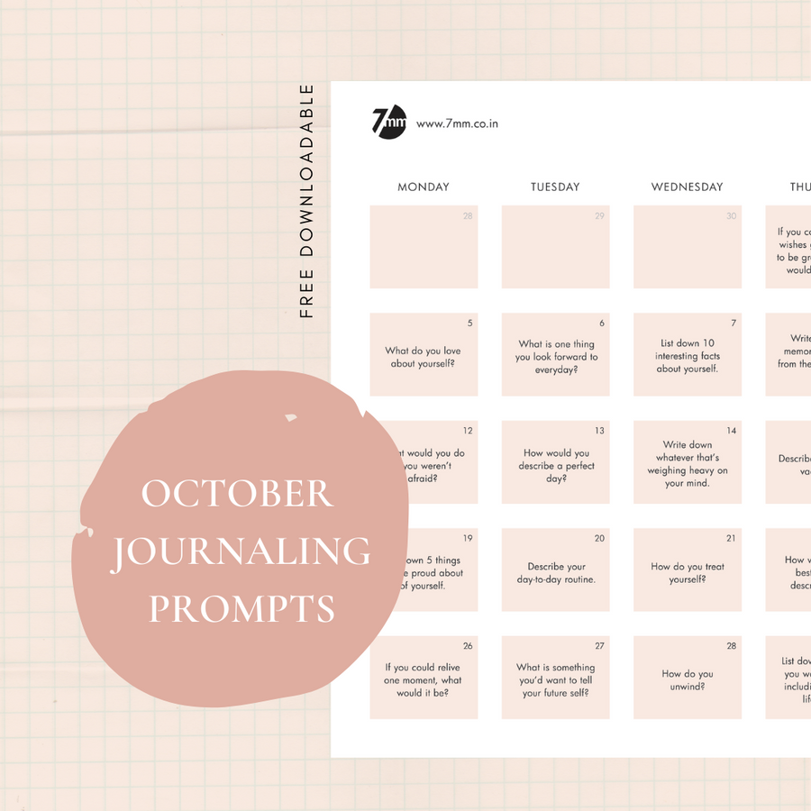 October Journaling Prompts