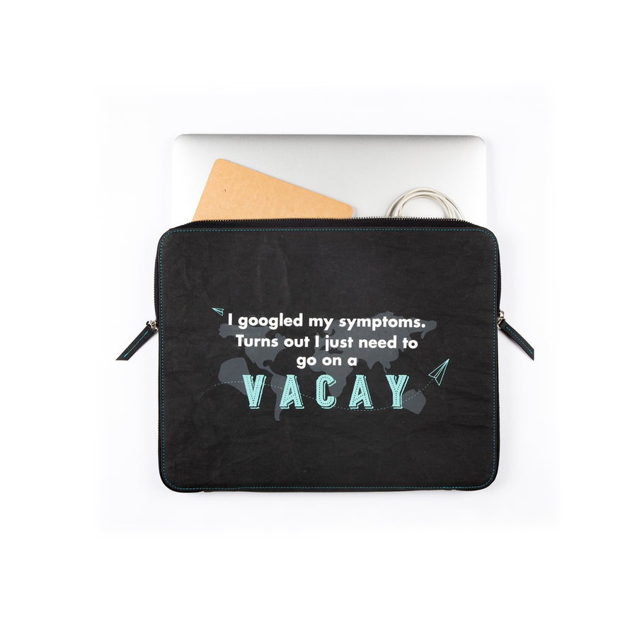 Laptop Sleeve: Vacay (Black) - 7mm - Fine Paper Stationery