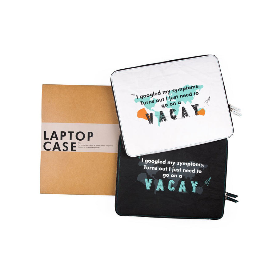 Laptop Sleeve: Vacay (White) - 7mm - Fine Paper Stationery