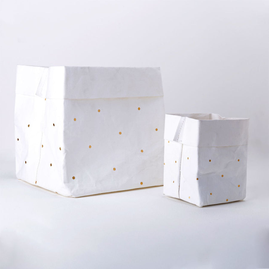 Paper Planter - Dots (White) - 7mm - Fine Paper Stationery