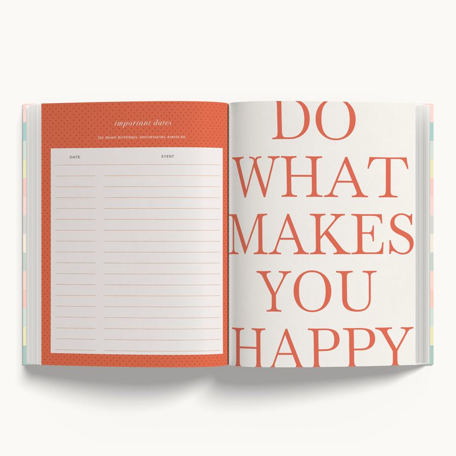 Undated Planner - Happy Mind, Happy Life