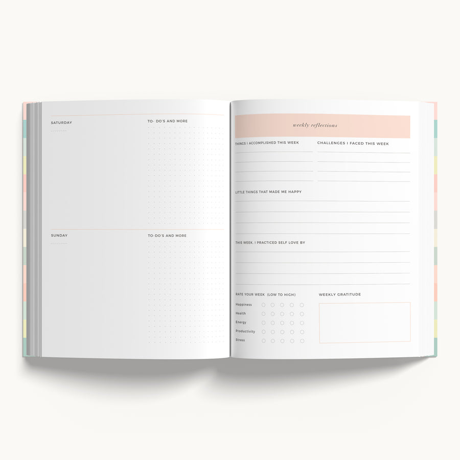 Undated Happiness Planner| Live your Best Life