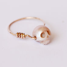 Nefertiti - Natural Pink Pearl, 14K Solid Red Gold Ring