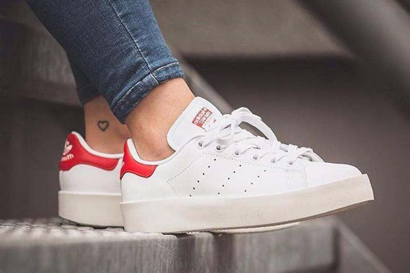 Adidas Stan Smith Platform White/Red