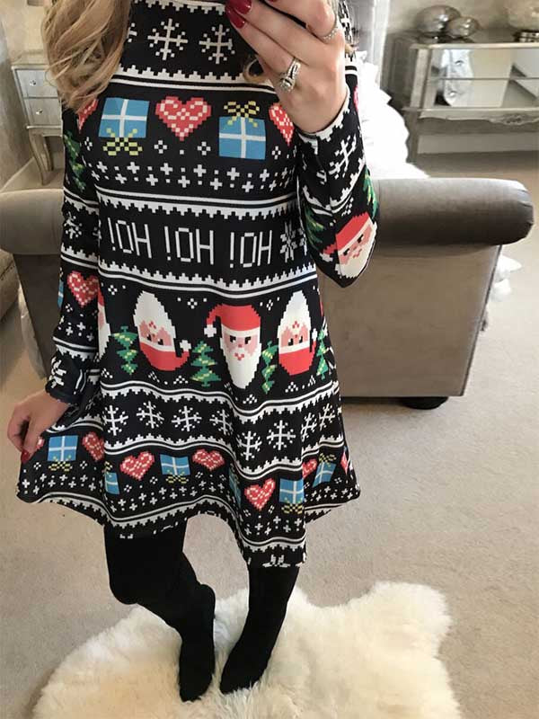 Ladies Santa Loose Dress