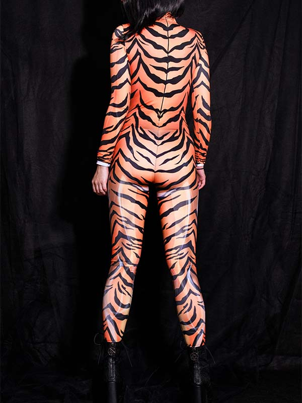 Ladies Tiger Sexy Jumpsuit