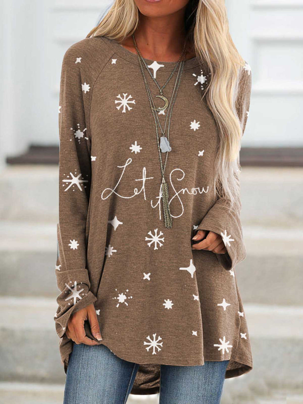 Women's Let It Snow Top