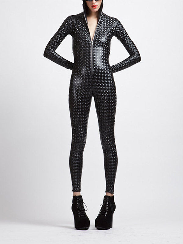 Ladies Black Punk Noble Sexy Jumpsuit