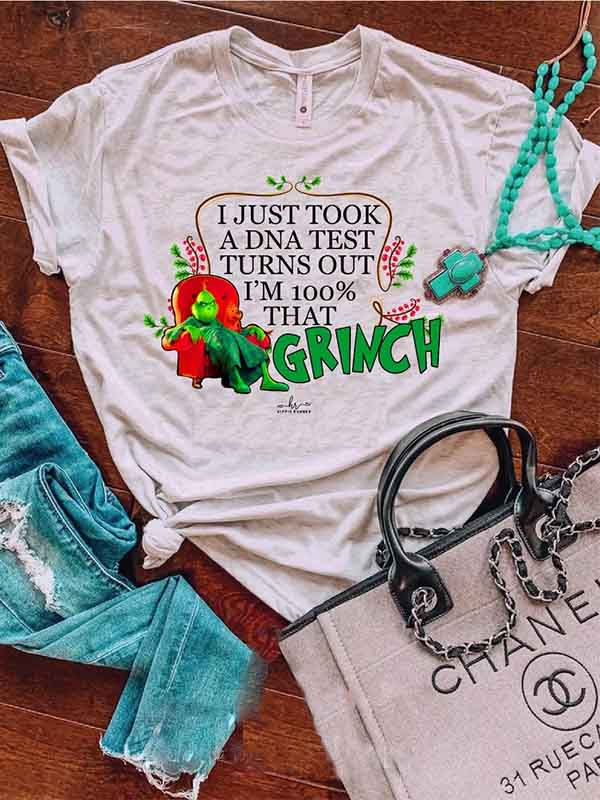 "Ladies Christmas ""The Grinch"" Short Sleeve T-Shirt"