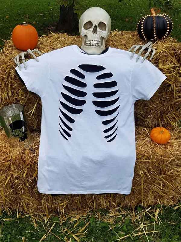 Lady Halloween Bone T-Shirt