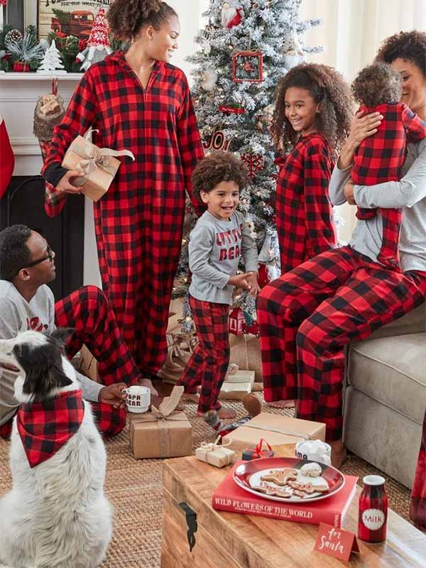 Men's And Women's Of The Same Family, One-piece Pajamas