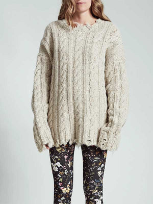 Women's Oversized Cable Sweater