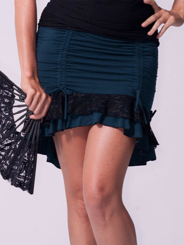Women's Casual Pleated Stitching Skirt
