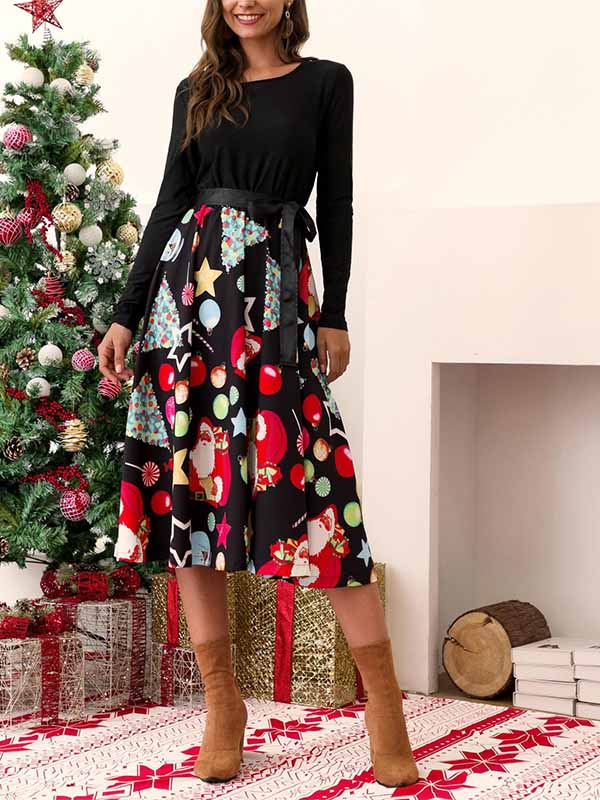 Women's Long Sleeved Dress