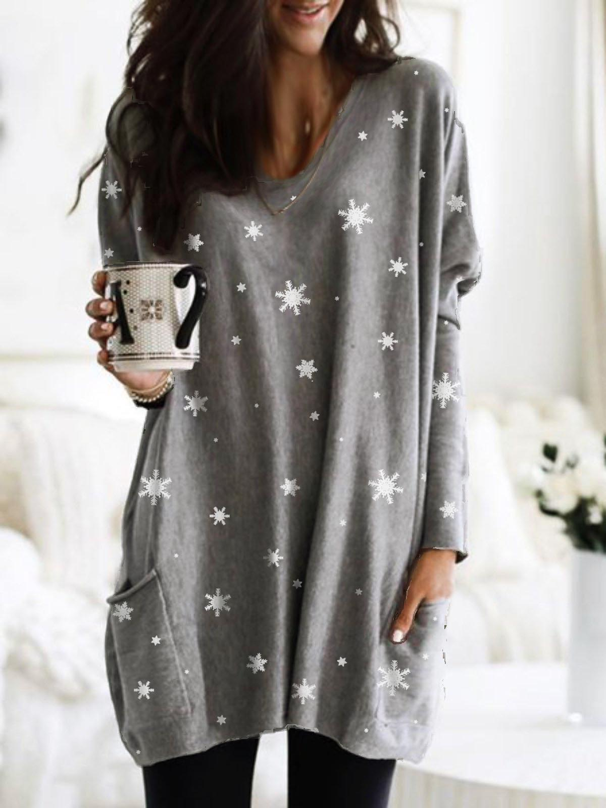 Women's Snowflake Pocket Dress