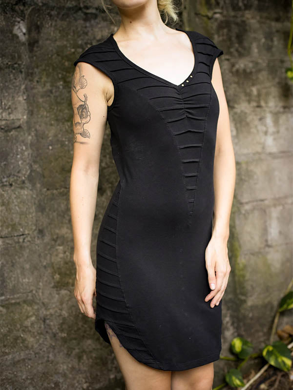 Women's Sexy V-neck Openwork Dress