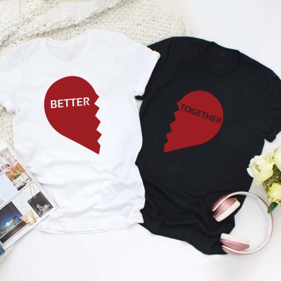 Better Together Lovely Couple T-Shirt