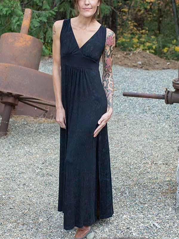 Women's Sexy Side Slit Dress