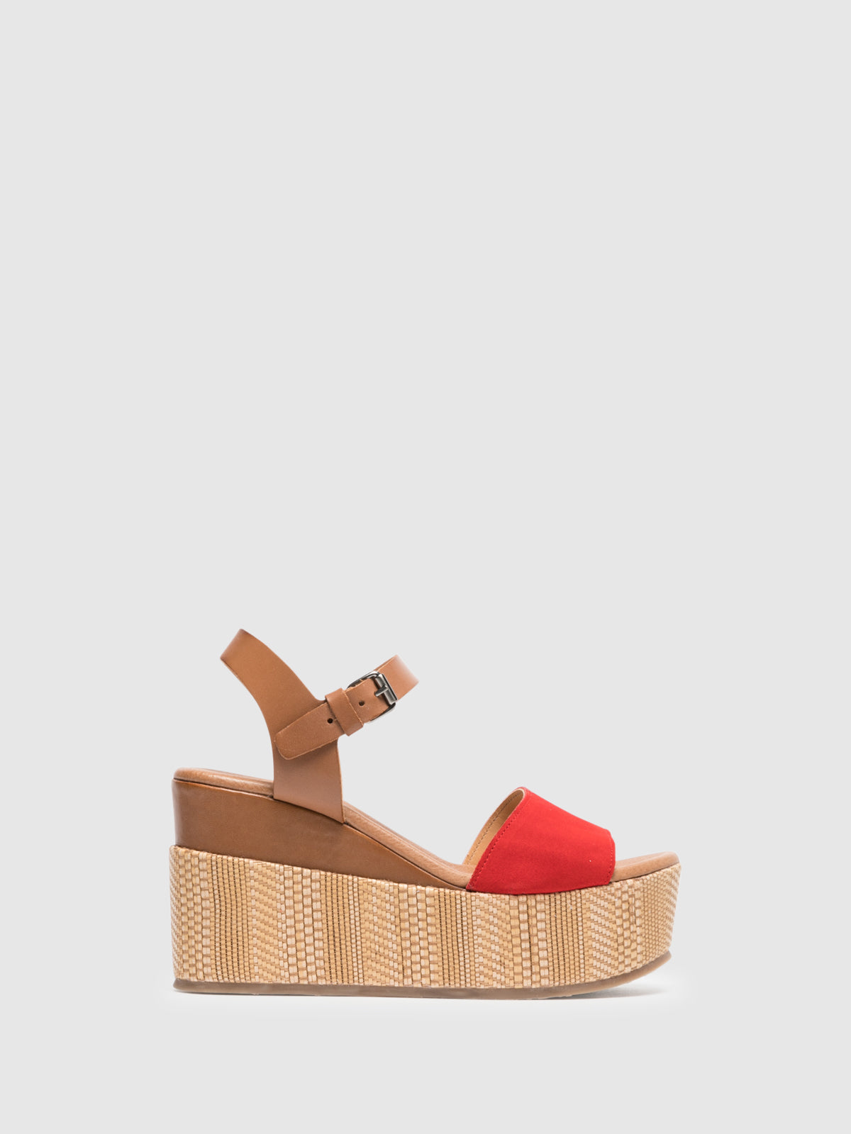 Clay's Sandalen mit Plateauabsatz in Rot