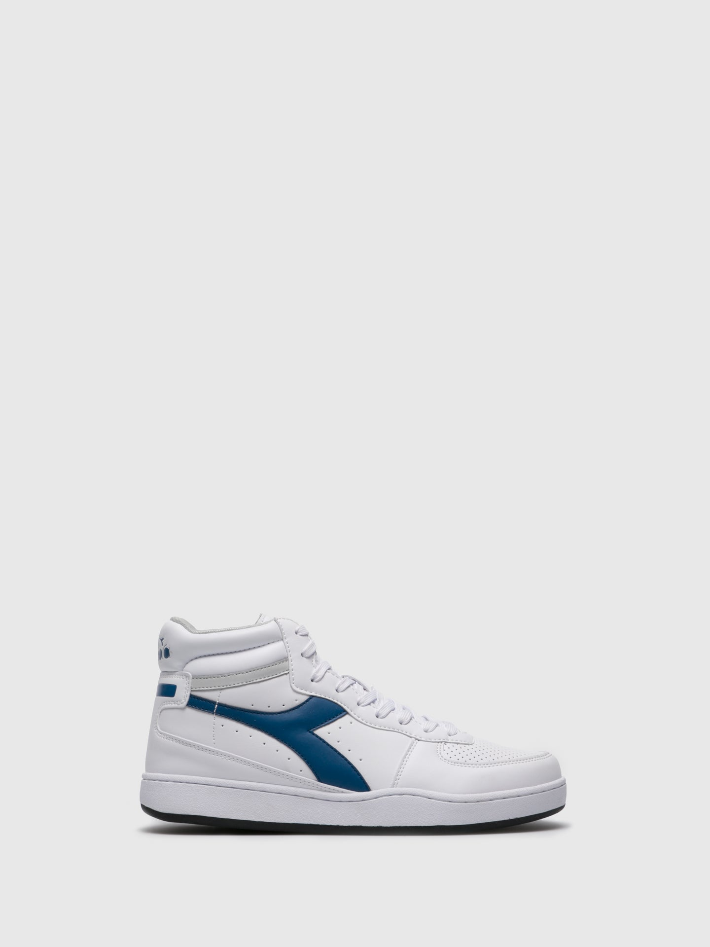 Diadora High-Top-Sneakers in Bleu Blanc