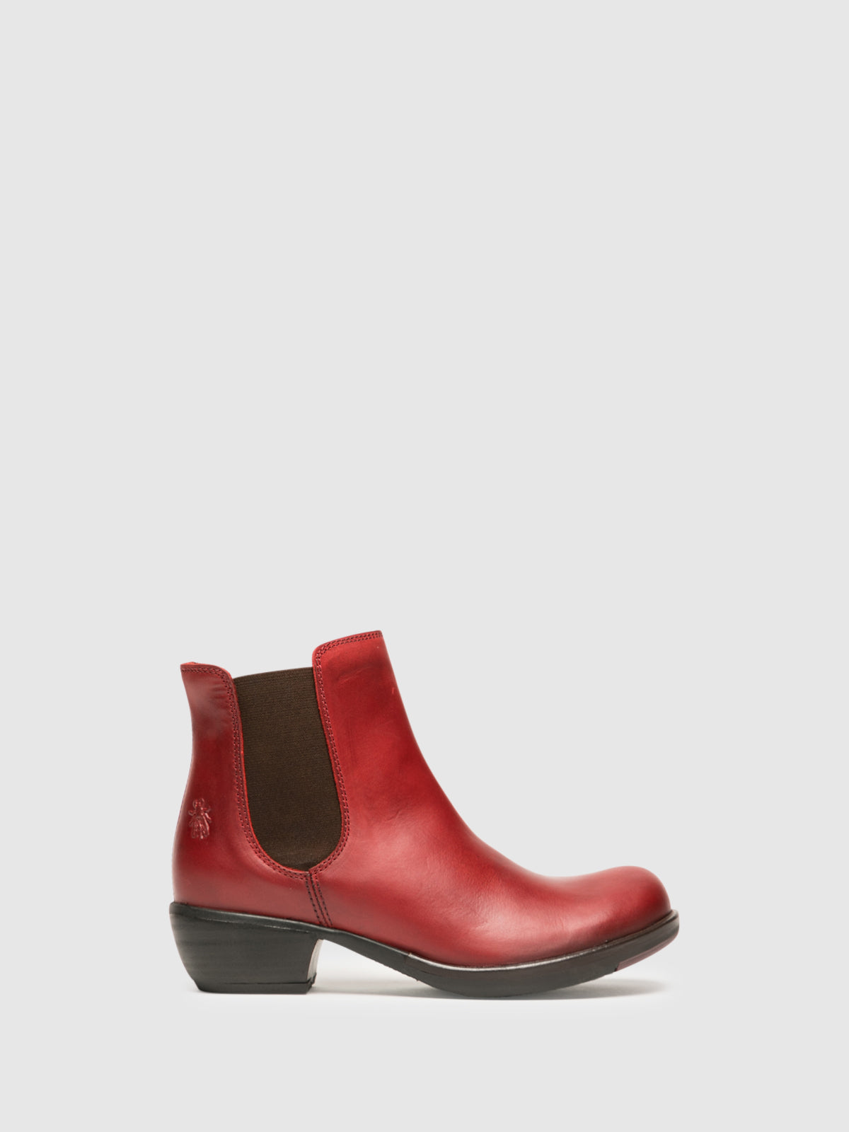 Fly London Stiefeletten im Chelsea-Stil in Rot