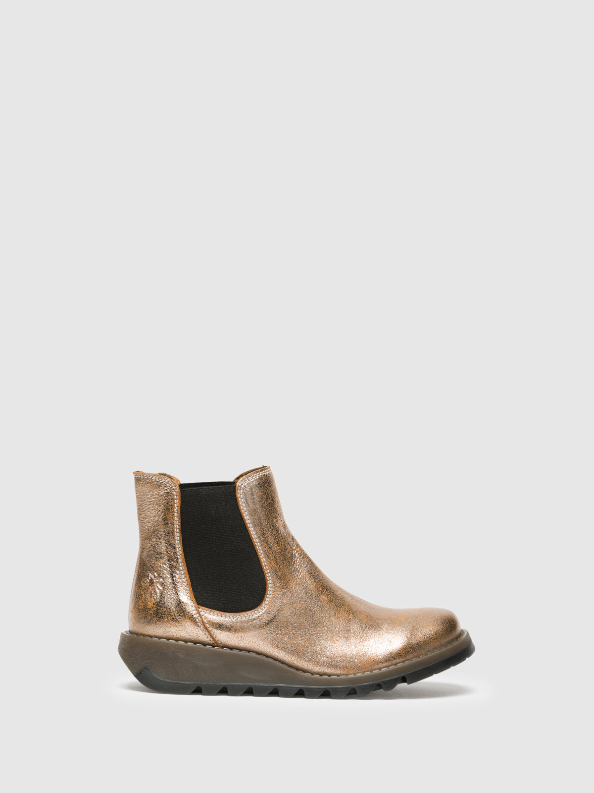 Fly London Stiefeletten im Chelsea-Stil in Gold