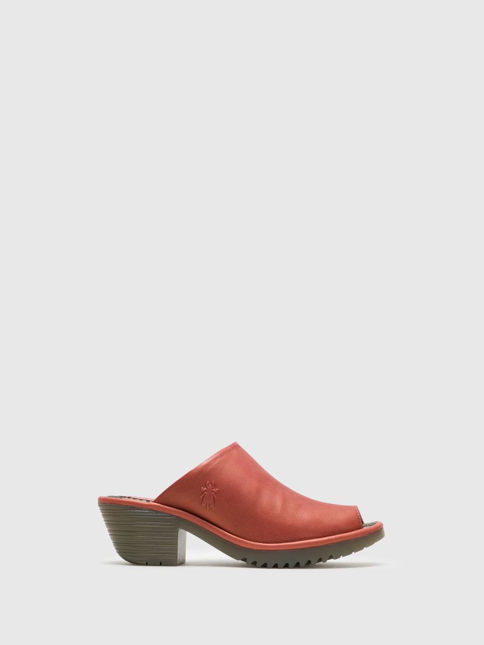 Fly London Mules mit offener Kappe in Rosa