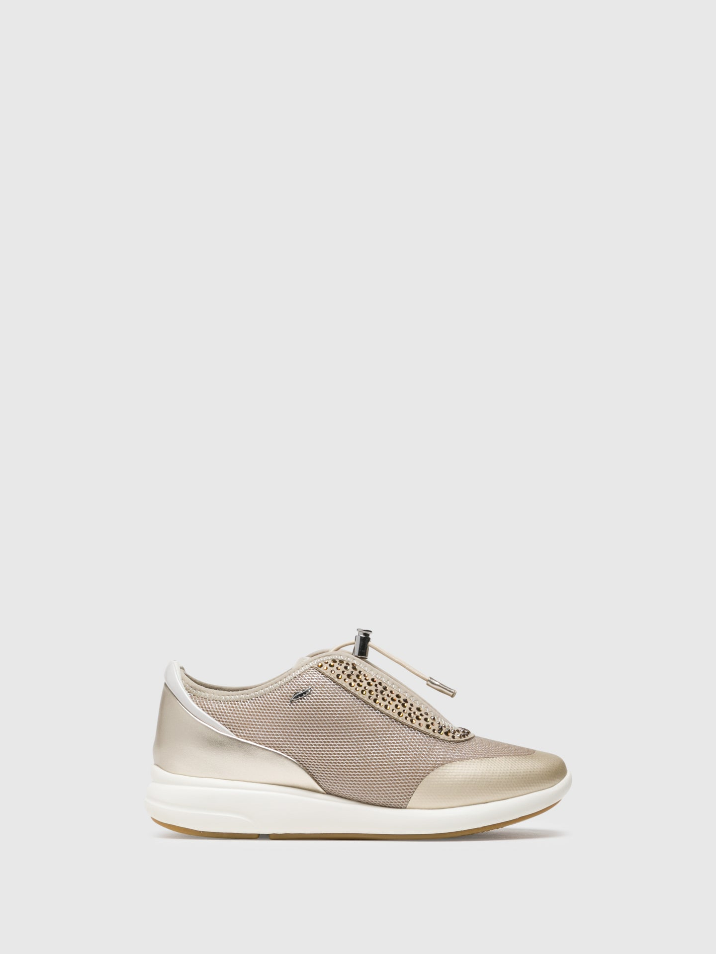 Geox Sneakers mit Applikationen in Taupe