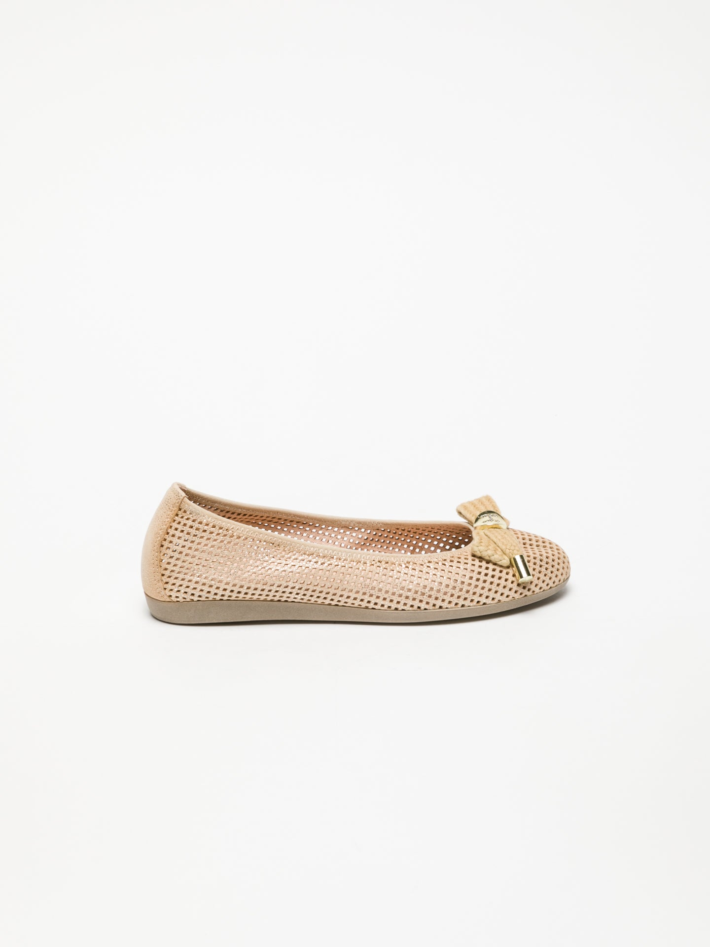 Hispanitas Ballerinas mit Schleife in Gold