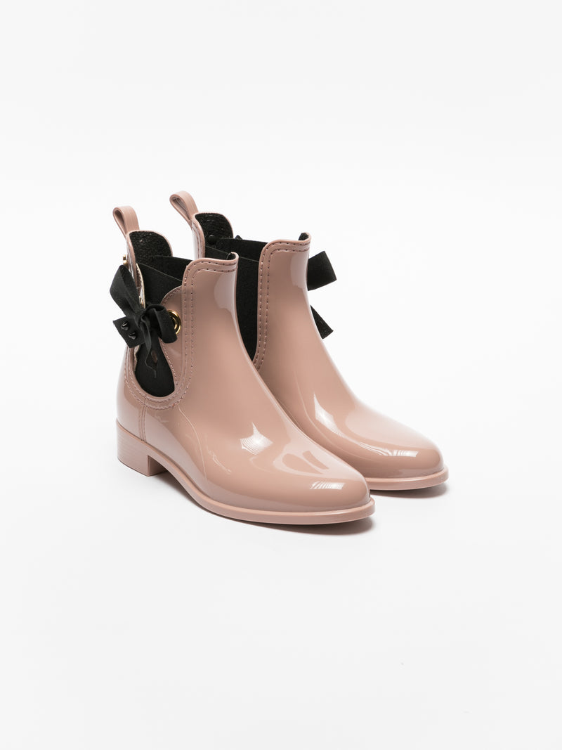 Lemon Jelly Stiefeletten im Chelsea-Stil in Rosa