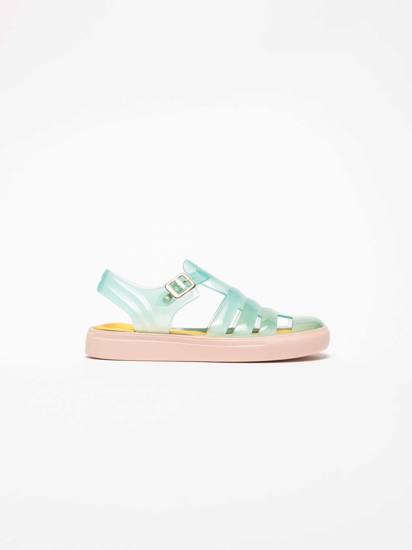 Lemon Jelly Sandalen mit Schnalle in Aquamarinblau
