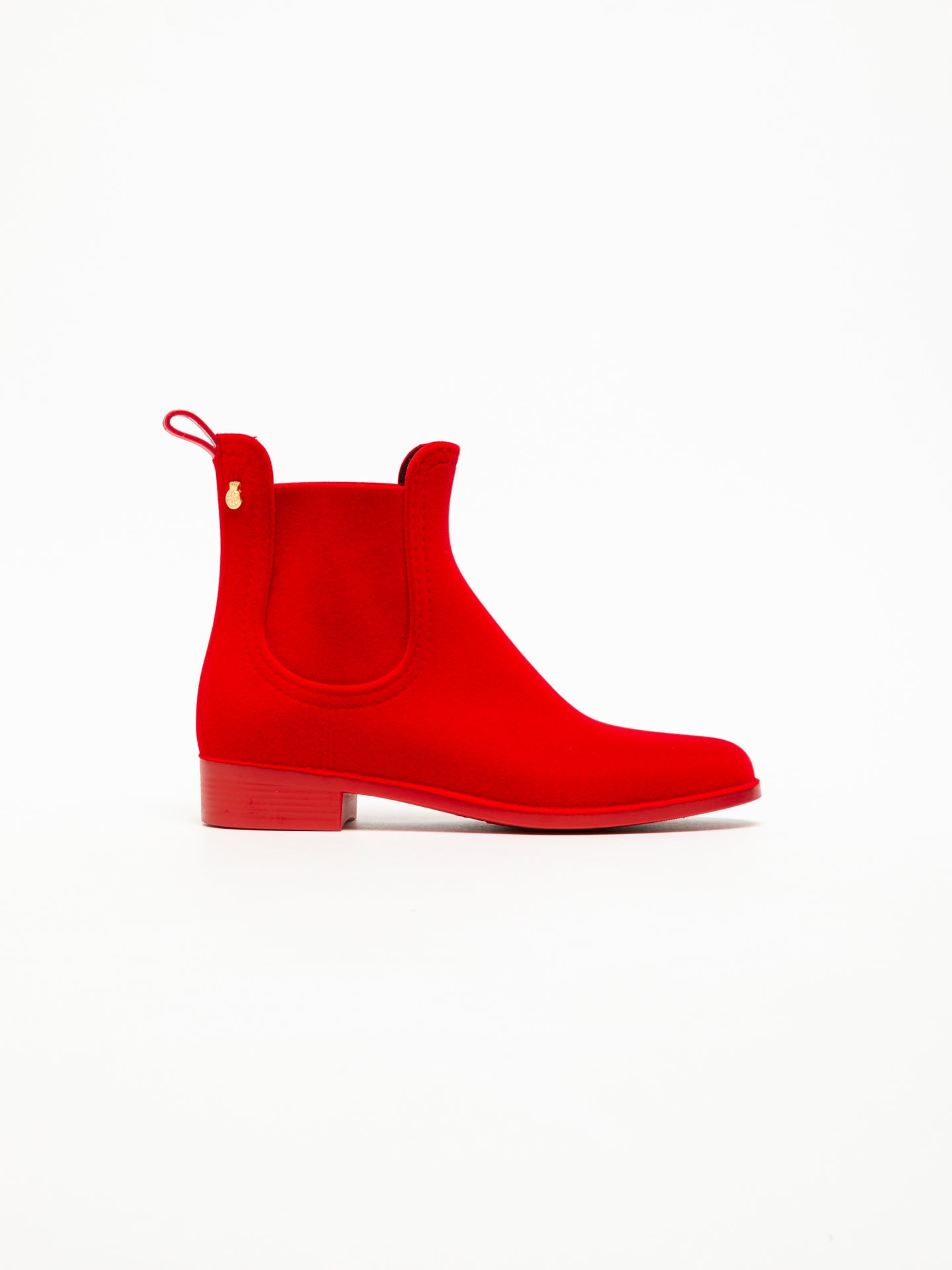 Lemon Jelly Stiefeletten im Chelsea-Stil in Rot