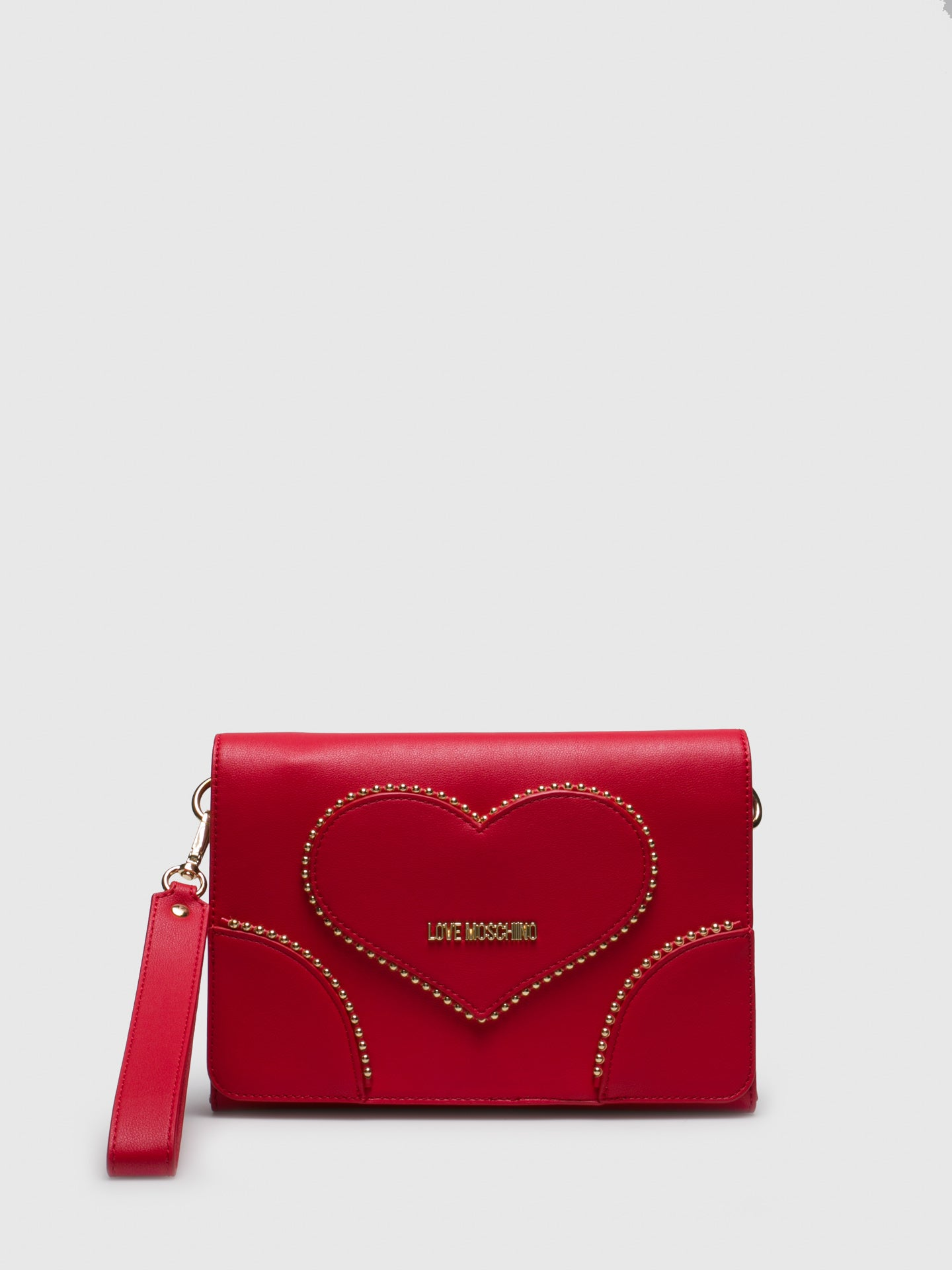 LOVE MOSCHINO Clutch in Rouge
