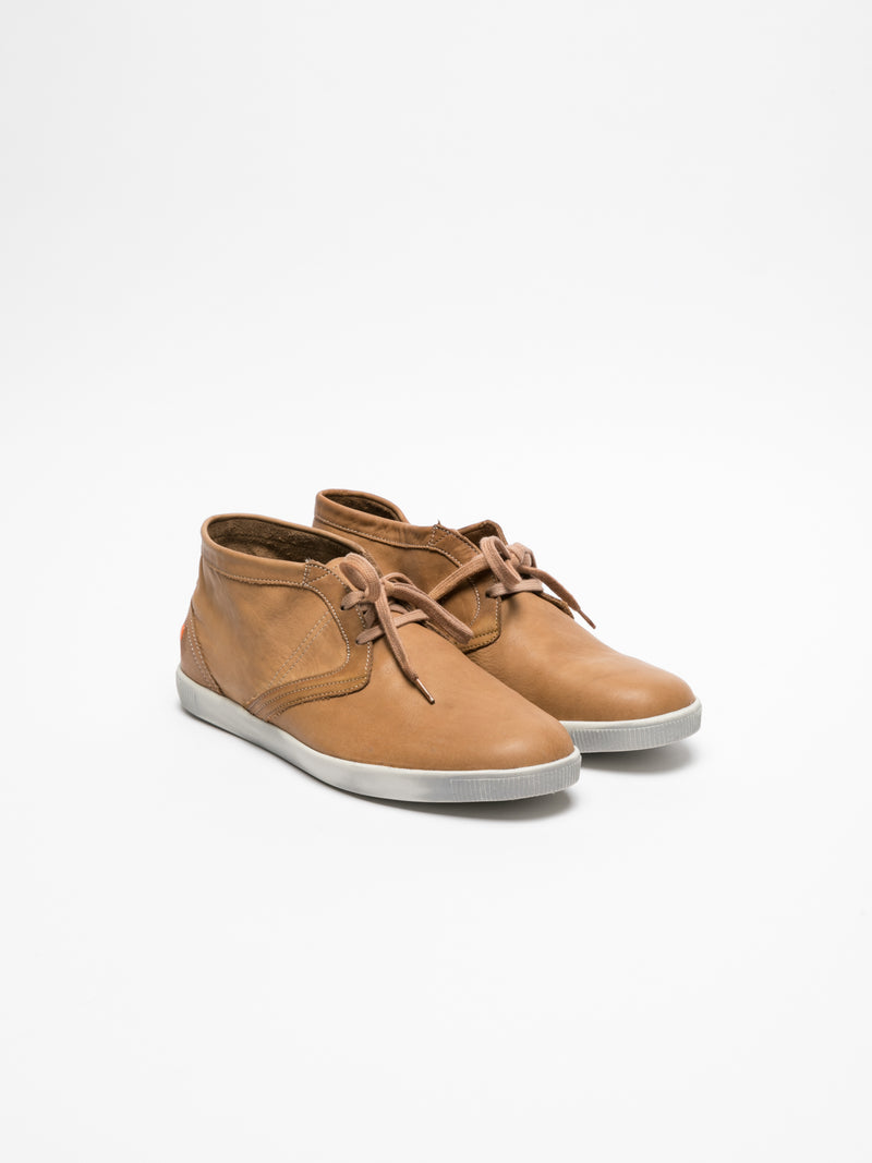 SOFTINOS Low-Top-Sneakers in Camel