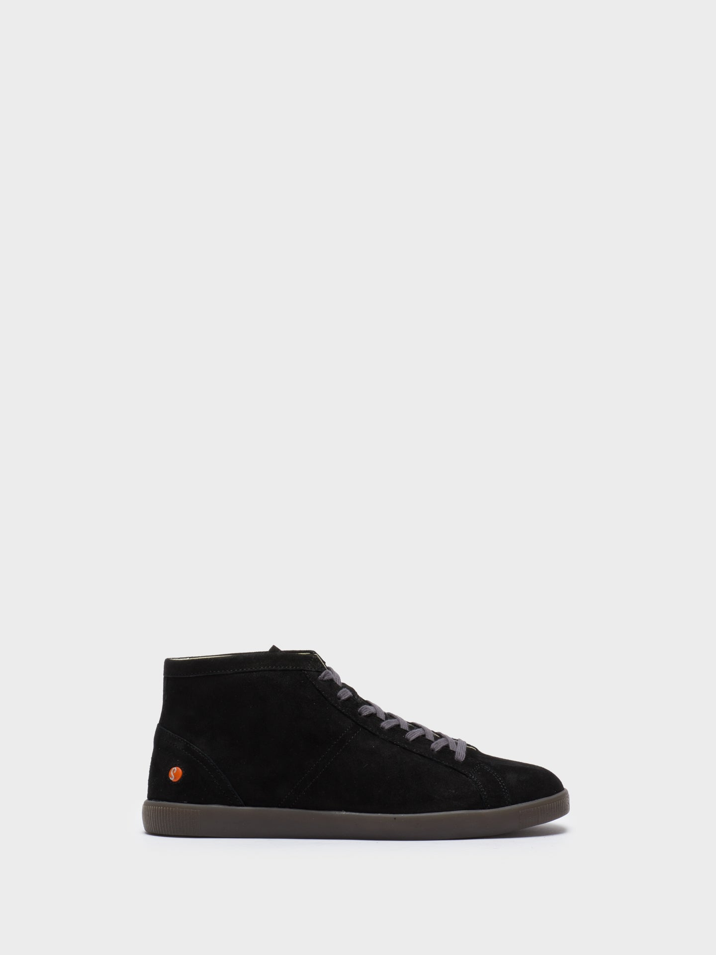 SOFTINOS High-Top-Sneakers in Daim Noir