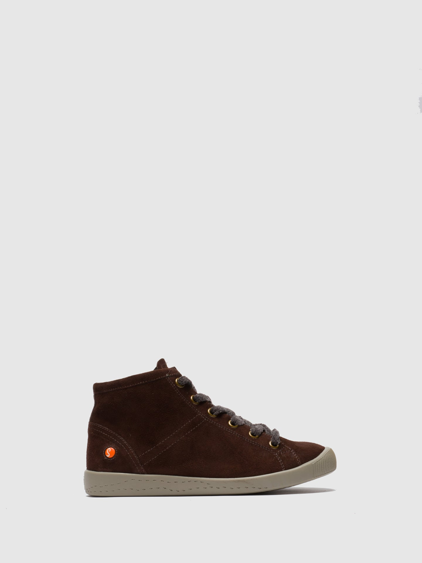 SOFTINOS High-Top-Sneakers in Braunem Leder