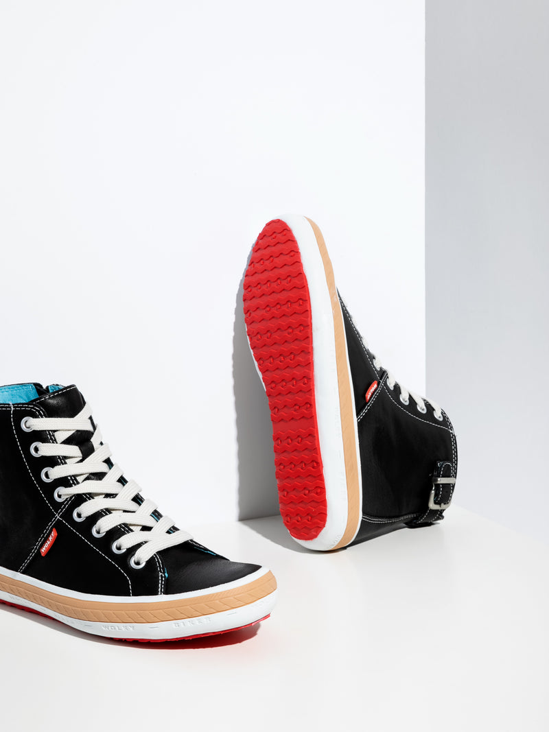 Wolky High-Top-Sneakers in Schwarz