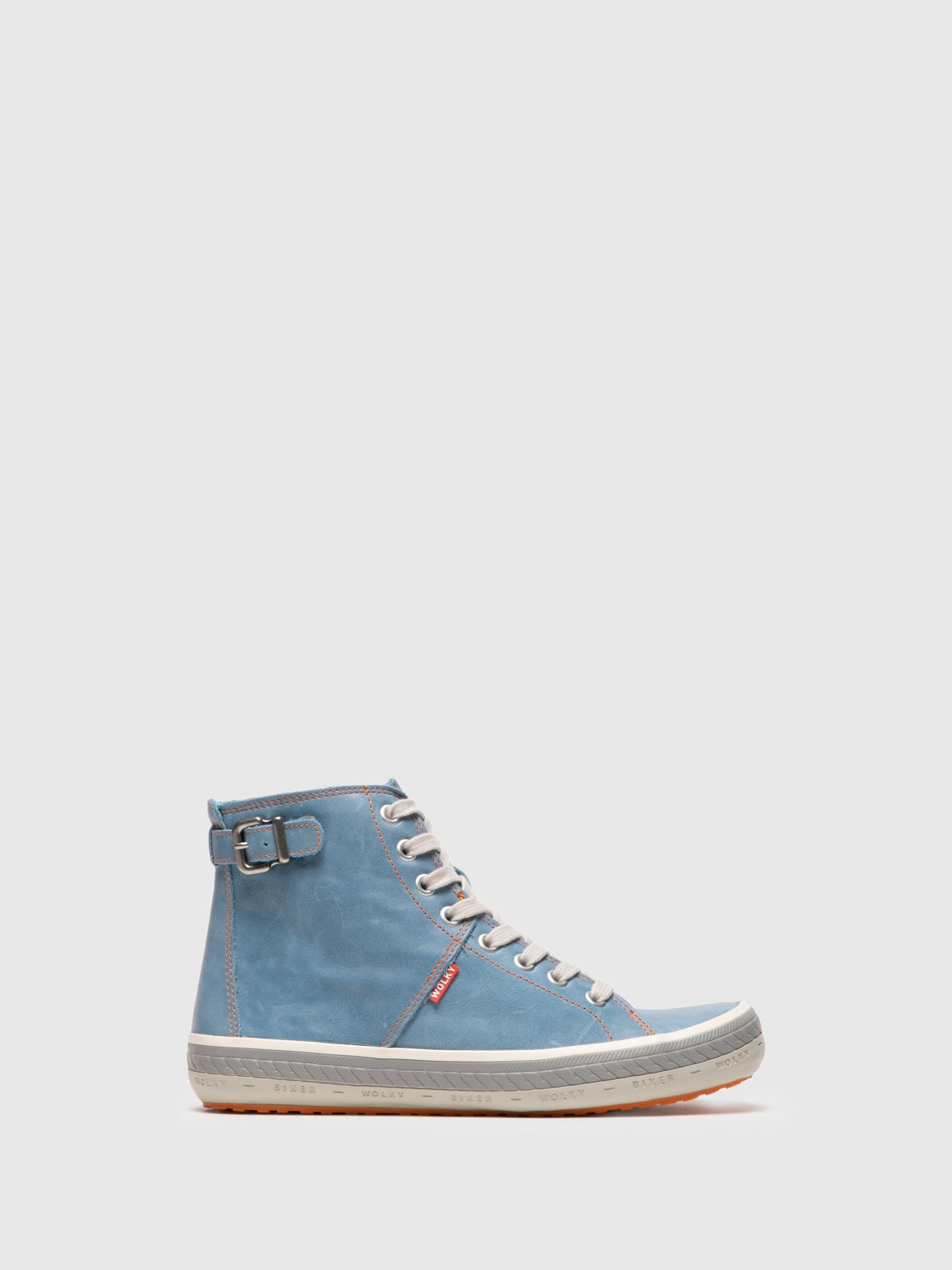 Wolky High-Top-Sneakers in Hellblau