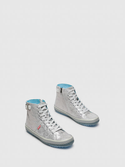 Wolky High-Top-Sneakers in Silber