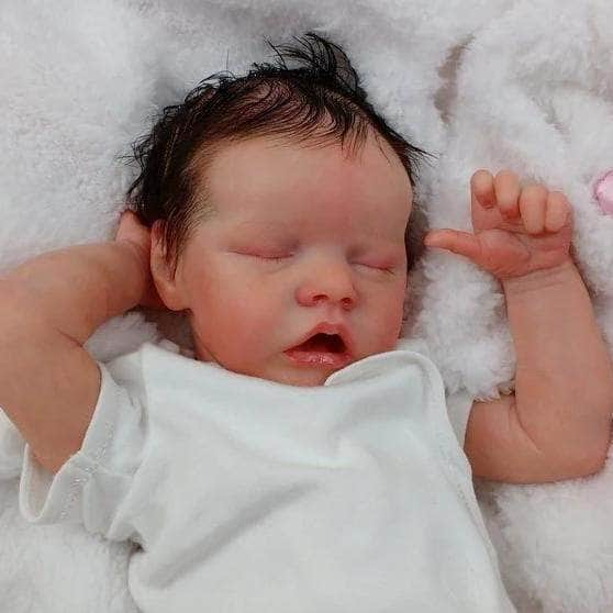 Reborn baby doll girl Amber big newborn 22 size rooted |Real Babies For Adoption