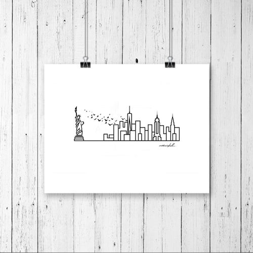 Skyline Prints - United States - Unframed digital graphic - 8