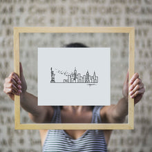 "Load image into Gallery viewer, Skyline Prints - United States - Unframed digital graphic - 8""x10"""