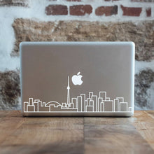 Load image into Gallery viewer, Toronto Skyline Art Decal - White Decorative sticker for MacBook / laptop / wall / door / window